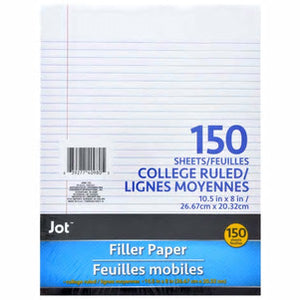 150 sheet College Ruled Filler Paper- 6 Packs - AVM