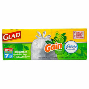DT96- Glad Odor Neutralizing 13-Gallon Kitchen Trash Bags with Febreze