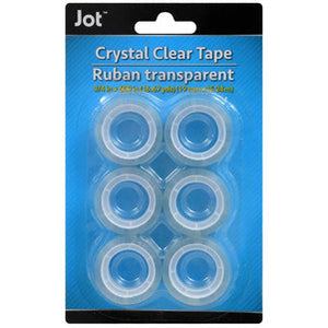 Standard-Size Crystal Clear Tape Roll Refills- 2 pack