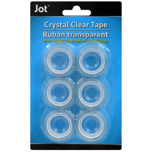 Standard-Size Crystal Clear Tape Roll Refills- 2 pack - AVM