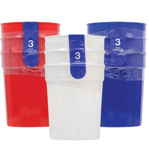 Image of Plastic Tumblers, 3-ct. Packs TD14