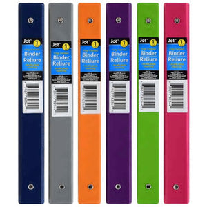 Jot Colorful 3-Ring Binders- 3 count