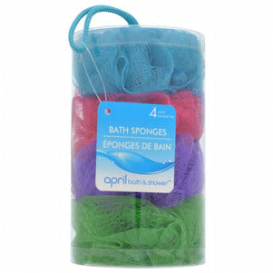 April Bath & Shower Mesh Bath Sponges TD118