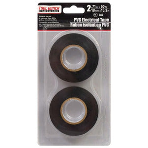 Tool Bench Black Electrical Tape, 4 Count - AVM