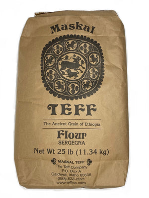 Meskel Sergegna (Brown and Ivory Mix) Teff, Naturally Gluten-Free and Allergen-Free; (መስቀል ሰርገኛ ጤፍ)