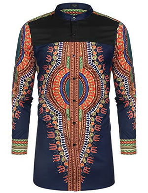Men's Afrikan Dashiki Print Shirt
