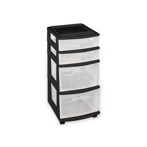 Image of Plastic 4 Drawer Medium Cart - AVM