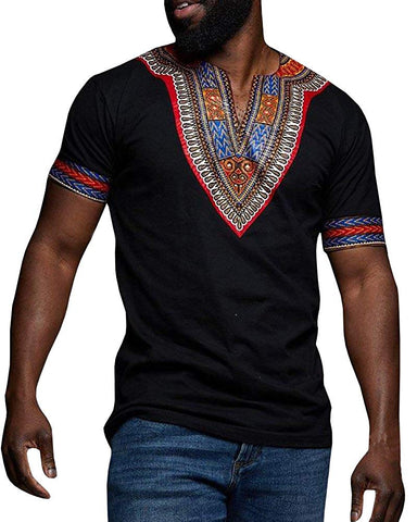 Image of Dashiki Afrikan Casual Tribal Print Men's T-shirt - AVM