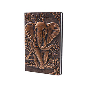Leather Writing Notebook Afrikan Elephant Journals Daily Weekly Monthly Planner - AVM
