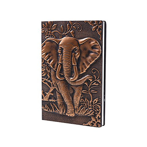 Image of Leather Writing Notebook Afrikan Elephant Journals Daily Weekly Monthly Planner