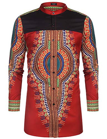 Image of Men's Afrikan Dashiki Print Shirt - AVM