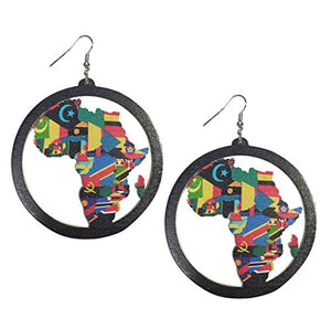 Afrikan Wooden Dangler Earrings - AVM