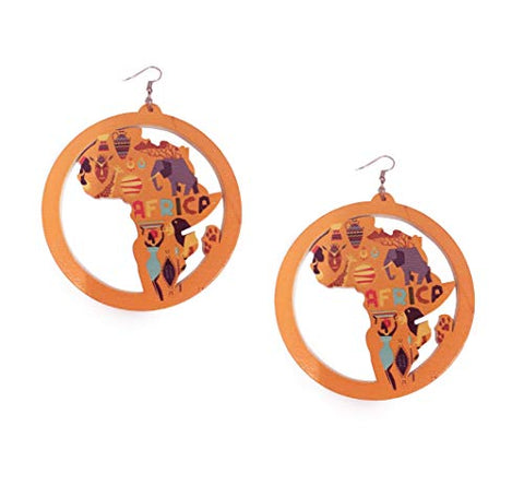 Afrikan Wooden Dangler Earrings