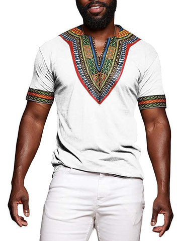 Dashiki Afrikan Casual Tribal Print Men's T-shirt - AVM