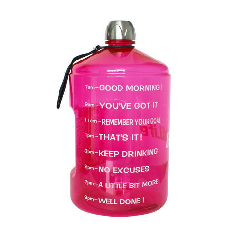 Image of Motivational 1 Gallon Water Bottle Motivational Fitness Workout with Time Marker |Drink More Water Daily