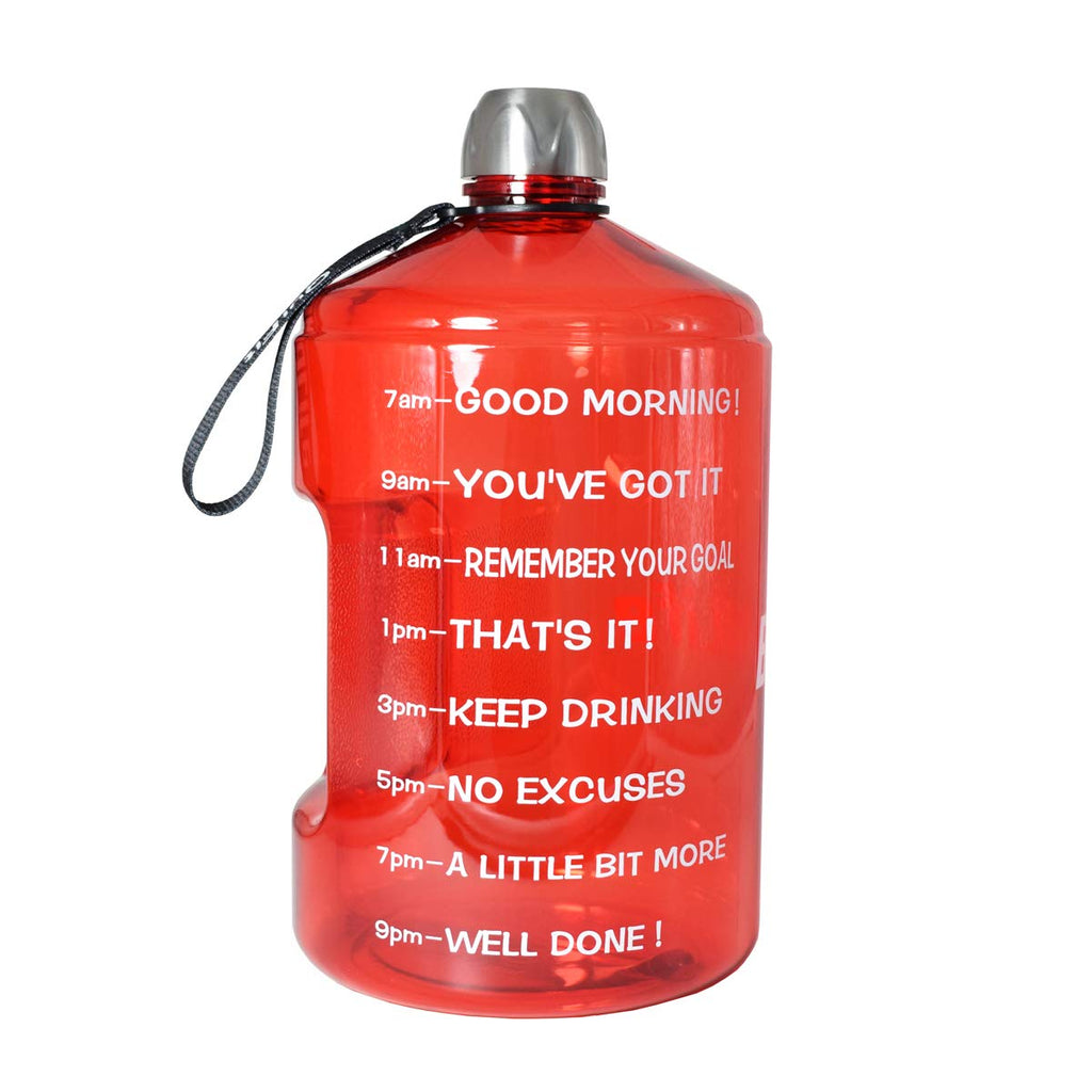 Motivational 1 Gallon Water Bottle Motivational Fitness Workout with Time Marker |Drink More Water Daily