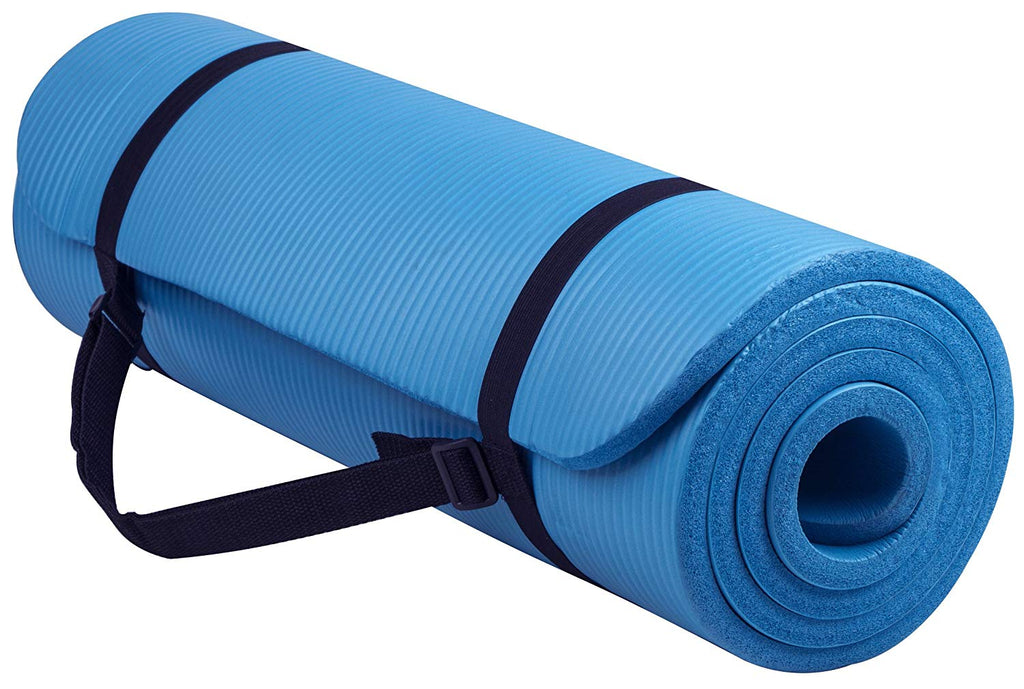 All-Purpose Extra Thick High Density Anti-Tear Exercise Yoga Mat with Carrying Strap