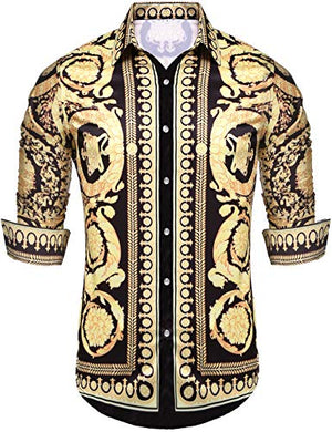 Mens Long Sleeve Fashion Luxury Design Shirt - AVM