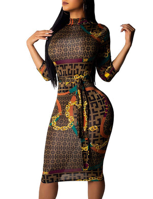 Women's Sexy V-Neck Floral Juniors Midi Dresses Casual Bodycon Club Outfits - AVM