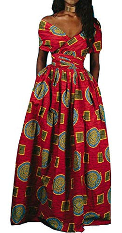 Image of Women's Afrikan Floral Printed Dresses - AVM