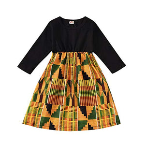 Afrikan Print Clothes Dashiki Style Outfit for girls