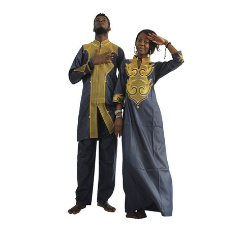 Afrikan Couple Dashiki Clothing - AVM