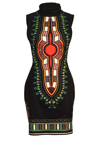 Image of Women's Dashiki Afrikan Floral Dresses - AVM