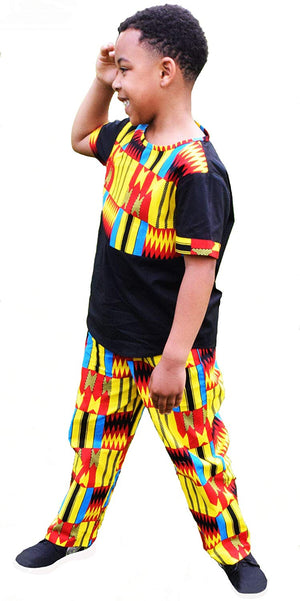 Afrikan Print Kente Kids Suit - AVM