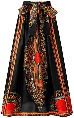Image of Women Afrikan Print Skirt Ankara Maxi Skirt Dashiki Skirt - AVM