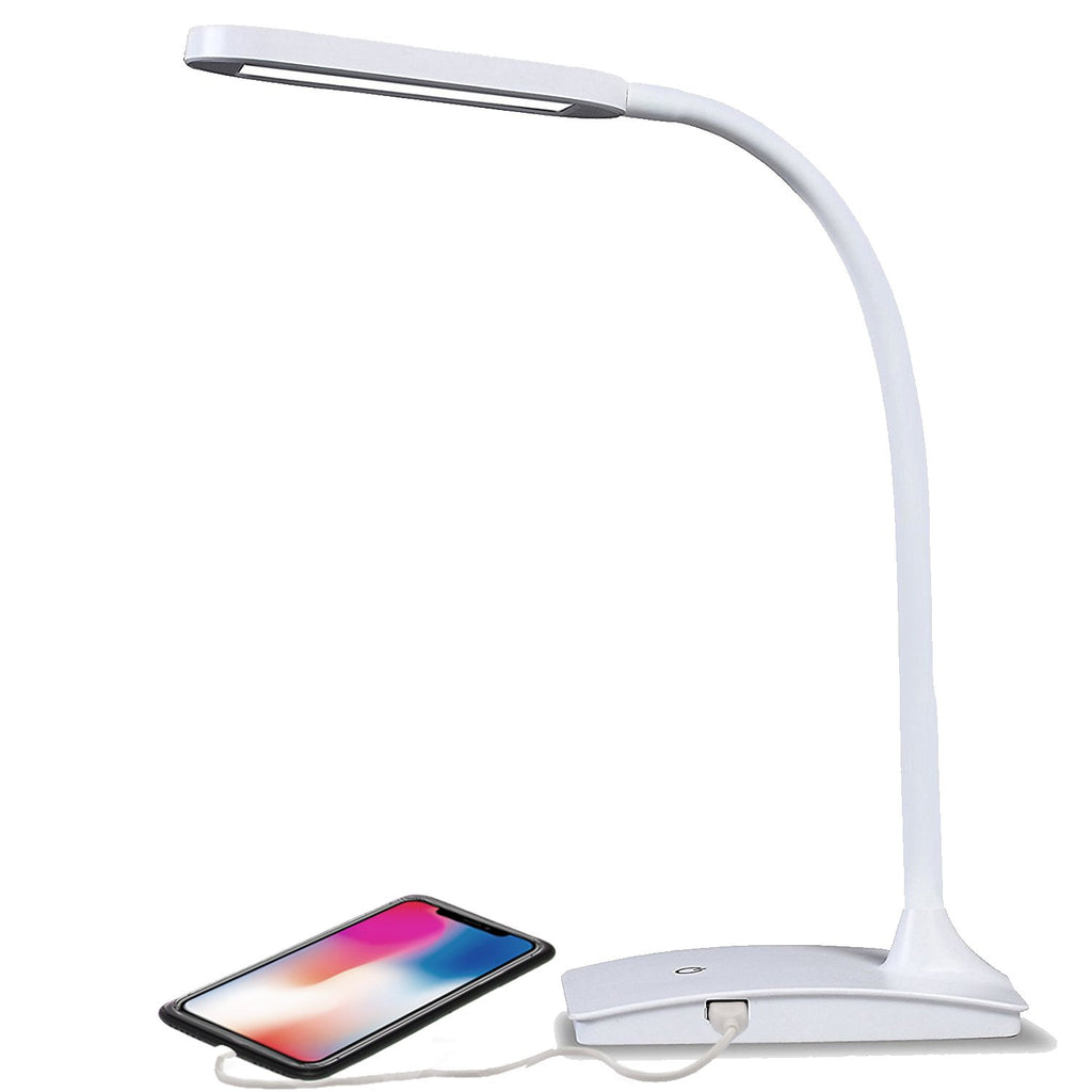 LED Desk Lamp with USB Port, 3-Way Touch Switch