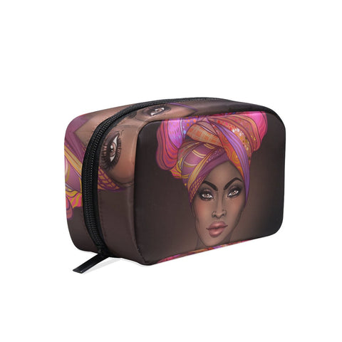 Image of Afrikan Woman Toiletry Bag Organizer Accessories Case - AVM