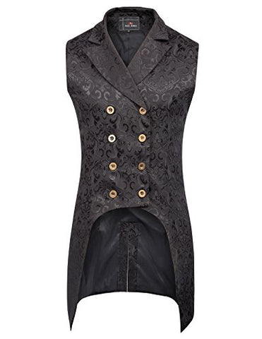Mens Gothic Steampunk Double Breasted Vest - AVM