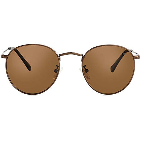 Image of Small Round Polarized Sunglasses for Men and Women - AVM