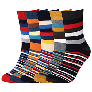 5Pcs Mens Dress Socks Crew Pack