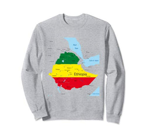Ethiopia Map  Pride Sweatshirt
