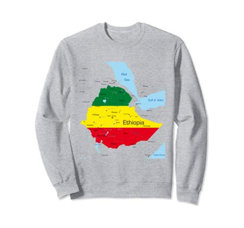 Image of Ethiopia Map  Pride Sweatshirt - AVM