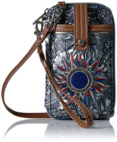 Women Crossbody Cellphone Purse with Multicolor and Adjustable Strap - AVM