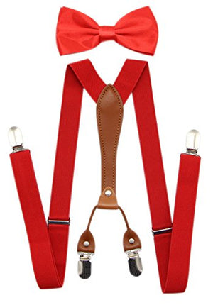 Colored Suspenders & Bowtie Set - AVM