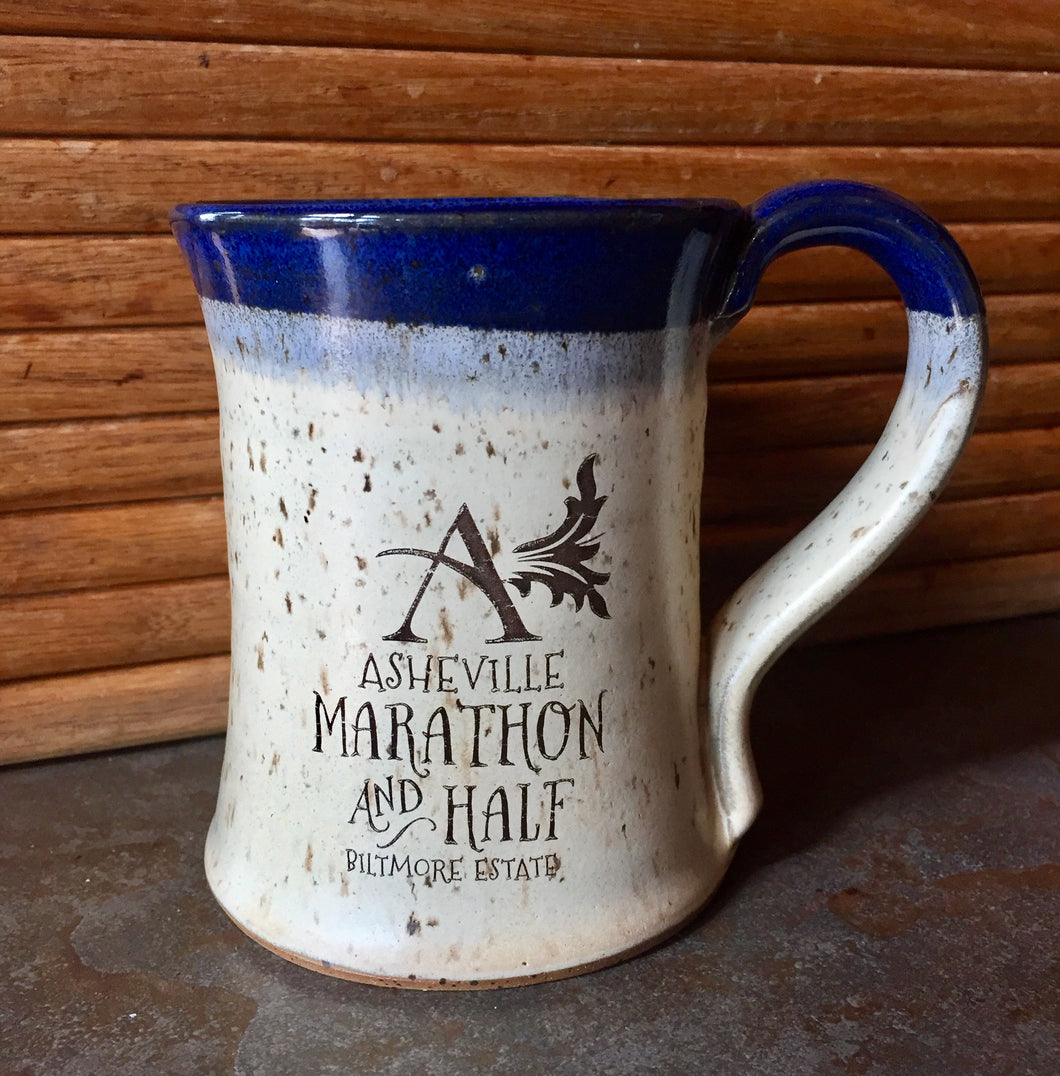 Asheville Marathon & Half Decal Pottery Mug