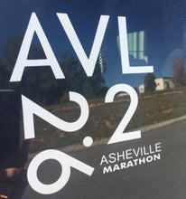 Load image into Gallery viewer, Asheville BTVC, 26.2 & 13.1 Window Decal