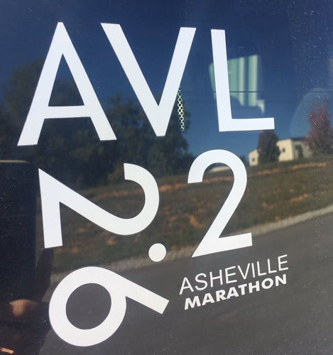 Asheville BTVC, 26.2 & 13.1 Window Decal