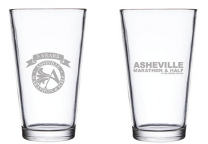 Asheville Marathon & Half Glass Pint