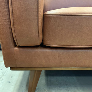 Dahlia RHF 3 Seat with Chaise - Soft Tan fabric