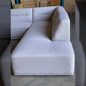 Enzo Modular Sofa Right Hand Chaise - Fabric Cloud (SOLD OUT-STOCK DUE EARLY MAY)