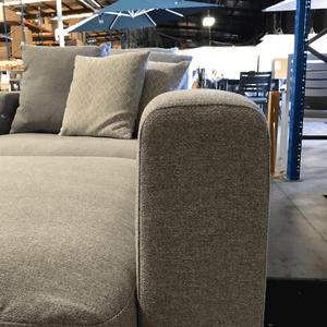 Paige Modular Sofa with a reversible chaise and full electric kit
