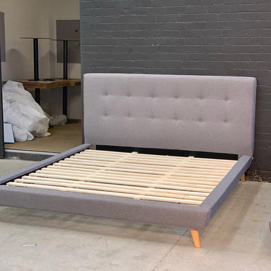 Nellie King Bed - Grey