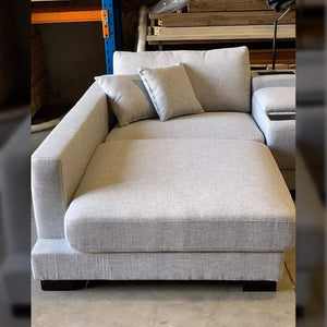 Hilton 3 seat Sofa with Electrics Console Left Hand Chaise - Grey