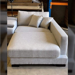 Hilton 3 seat Sofa with Electrics Console Right Hand Chaise - Grey