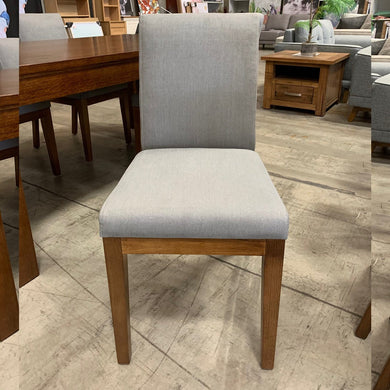Trent Upholstered Chair - Steel Fabric