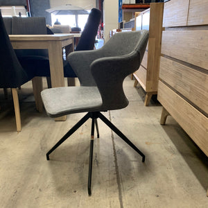 Bianca Swivel Chair - Dark Grey